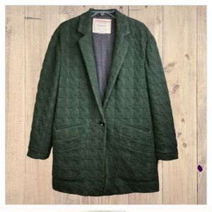 ANTHROPOLOGIE Cartonnier Green Oversized Blazer